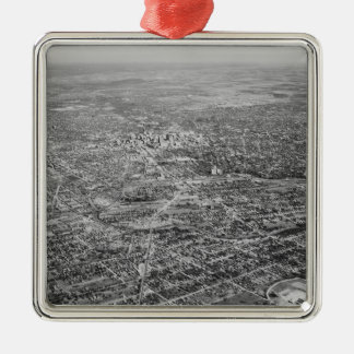 Aerial View of San Antonio, 1939 Metal Ornament