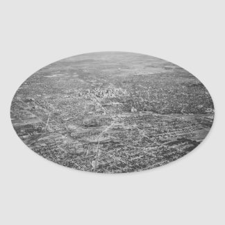 Aerial View of San Antonio, 1939 Oval Sticker