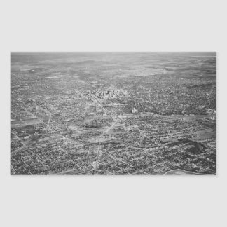 Aerial View of San Antonio, 1939 Rectangular Sticker