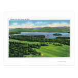 Aerial View of Saranac Inn Golf Course & Post Card