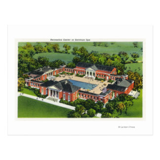 Aerial View of Saratoga Spa Recreation Center Postcard