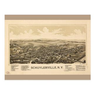 Aerial View of Schuylerville, New York (1889) Postcard