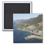 Aerial view of Sea Cliff Bridge near Wollongong, 2 2 Inch Square Magnet