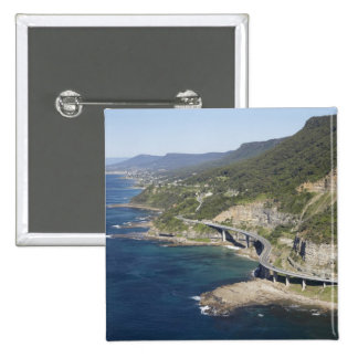 Aerial view of Sea Cliff Bridge near Wollongong, 2 2 Inch Square Button
