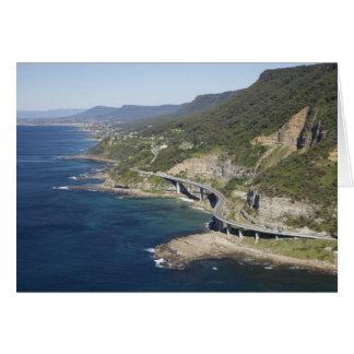 Aerial view of Sea Cliff Bridge near Wollongong, 2 Greeting Card