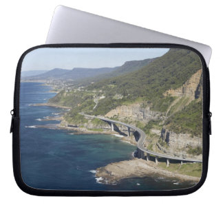 Aerial view of Sea Cliff Bridge near Wollongong, 2 Laptop Computer Sleeve