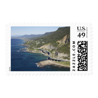 Aerial view of Sea Cliff Bridge near Wollongong, 2 Postage Stamps