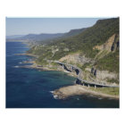 Aerial view of Sea Cliff Bridge near Wollongong, 2 Poster