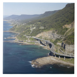 Aerial view of Sea Cliff Bridge near Wollongong, 2 Large Square Tile
