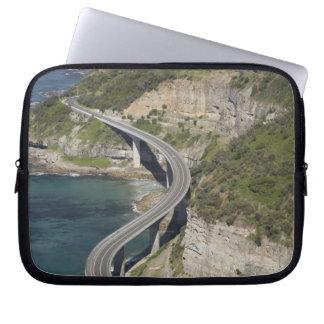 Aerial view of Sea Cliff Bridge near Wollongong, Laptop Sleeves