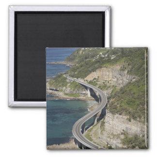 Aerial view of Sea Cliff Bridge near Wollongong, Refrigerator Magnet