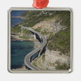 Aerial view of Sea Cliff Bridge near Wollongong, Metal Ornament