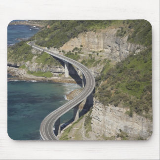 Aerial view of Sea Cliff Bridge near Wollongong, Mouse Pad
