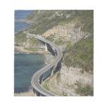 Aerial view of Sea Cliff Bridge near Wollongong, Memo Notepad