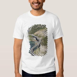 Aerial view of Sea Cliff Bridge near Wollongong, T-Shirt