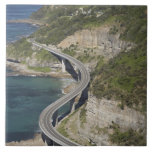Aerial view of Sea Cliff Bridge near Wollongong, Large Square Tile