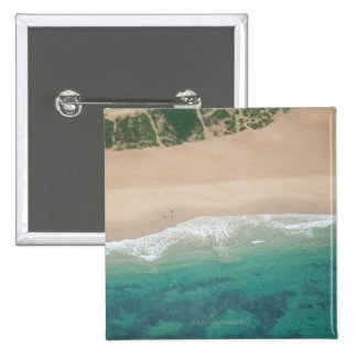 Aerial view of Sea view Beach, Port Elizabeth, Pinback Button
