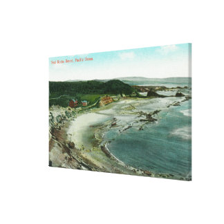 Aerial View of Seal Rocks Resort and Pacific Canvas Print