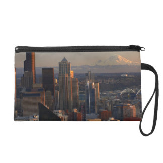 Aerial view of Seattle city skyline 2 Wristlets