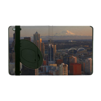 Aerial view of Seattle city skyline 2 iPad Cover
