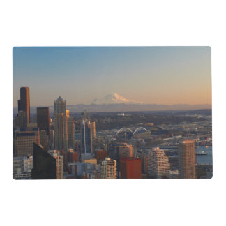 Aerial view of Seattle city skyline 2 Placemat