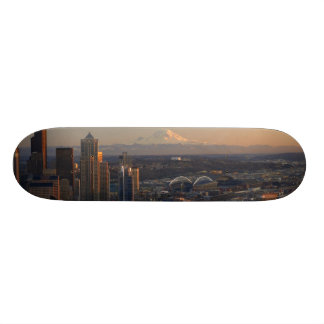 Aerial view of Seattle city skyline 2 Skateboard Deck