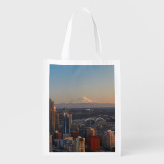 Aerial view of Seattle city skyline 2 Market Totes