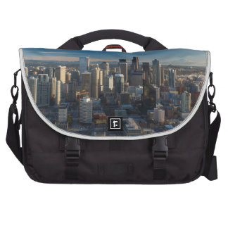 Aerial view of Seattle city skyline Commuter Bags