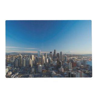 Aerial view of Seattle city skyline Placemat