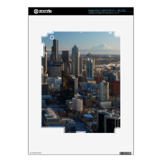 Aerial view of Seattle city skyline Decal For iPad 3