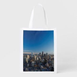 Aerial view of Seattle city skyline Market Totes