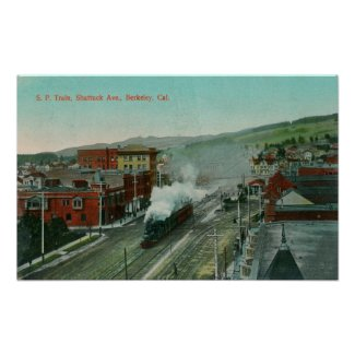Aerial View of Shattuck Ave SP Train print