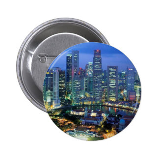 aerial  view  of singapore  angie pinback button