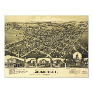 Aerial View of Somerset, Pennsylvania (1900) Card