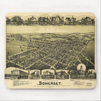 Aerial View of Somerset, Pennsylvania (1900) Mouse Pad