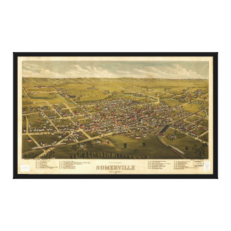Aerial View of Somerville, New Jersey (1882) Canvas Print