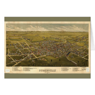 Aerial View of Somerville, New Jersey (1882) Card