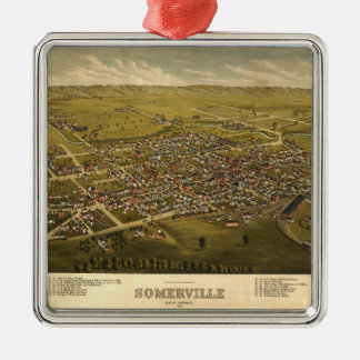 Aerial View of Somerville, New Jersey (1882) Metal Ornament