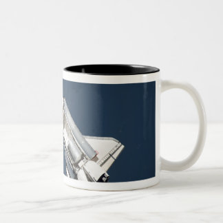 Aerial view of Space Shuttle Discovery 2 Two-Tone Coffee Mug