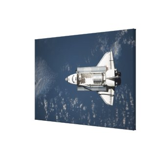 Aerial view of Space Shuttle Discovery 3 Canvas Print
