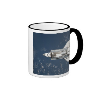 Aerial view of Space Shuttle Discovery 3 Ringer Mug