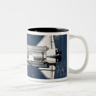 Aerial view of Space Shuttle Discovery 3 Two-Tone Coffee Mug