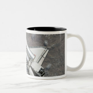 Aerial view of Space Shuttle Discovery Two-Tone Coffee Mug