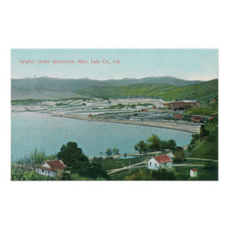 Aerial View of Sulphur Banks Quicksilver Mine Poster