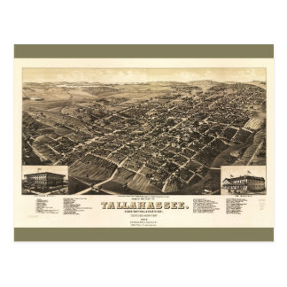 Aerial View of Tallahassee, Florida (1885) Postcard