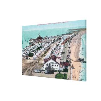 Aerial View of Tent City from Hotel del Coronado Canvas Print
