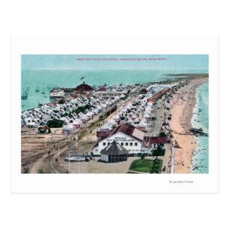 Aerial View of Tent City from Hotel del Coronado Postcard