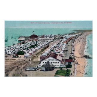 Aerial View of Tent City from Hotel del Coronado Poster