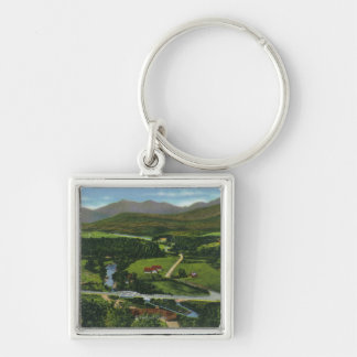 Aerial View of the 60 Meter Olympic Ski Jump Keychain