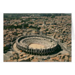 Aerial view of the amphitheatre greeting card